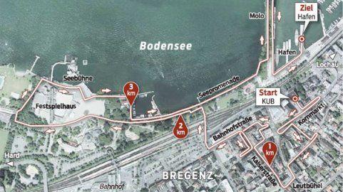 Das Bregenzer Zentrum wird zum längsten Catwalk der Welt