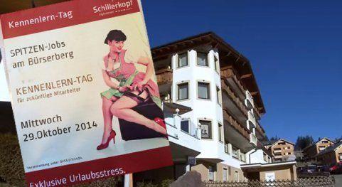 Erotische Job-Anzeige sorgtinBürserberg für Aufsehen