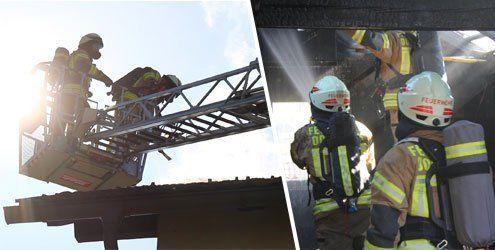 Dornbirn: Dachstuhlbrand sorgt für Großeinsatz der Feuerwehr