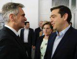 Faymann besucht mitTsipras Flüchtlings-Hotspots auf Lesbos