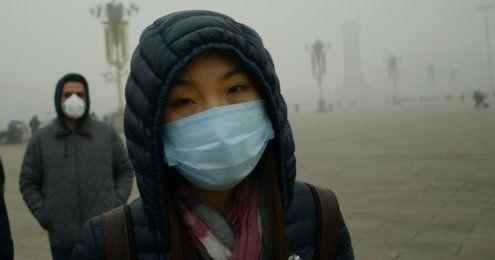 """""""Wie der Weltuntergang"""":Smog hält Peking fest im Würgegriff"""