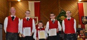 Erfolgreiche Jungmusikanten, verdienter Musikant