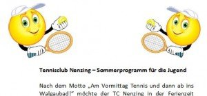 Tennisclub Nenzing – Sommertennis für den Nachwuchs
