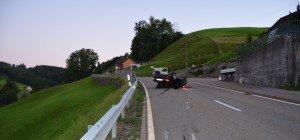 Herisau: Auto landete nach Unfall auf dem Dach