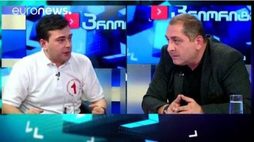 Politiker außer Rand und Band: Schlägerei live im georgischen TV