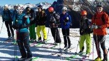 Skibergsteigen: Erstes Camp war vom Feinsten