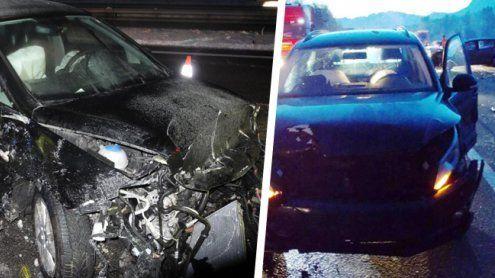 Zwei Unfälle innerhalb weniger Minuten auf der A14