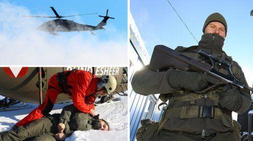 Wenn der Hubschrauber in Brand gerät: Notfall-Übung in Sulzberg