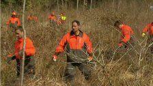 Flüchtlinge als Arbeiter der Forstwirtschaft