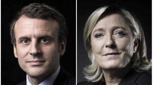 Erste Hochrechnung: Macron und Le Pen gehen in die Stichwahl