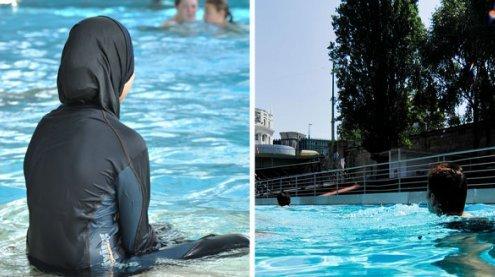 Viel Wirbel: Badeschiff lädtzum Gratis-Baden im Burkini ein