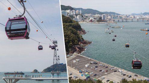 Neue Doppelmayr-Gondelbahn in Korea: Mit der Gondel übers Meer