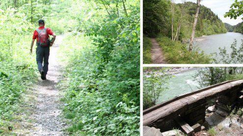 Brücke über alte Trasse der Wälderbahn: Zukunft ungewiss