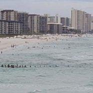 Familie durch Menschenkette aus Meer gerettet