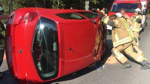 Dornbirn: Fahrzeug fällt in Furt