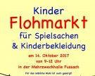 Kinder Flohmarkt für Spielsachen & Kinderbekleidung am 14. Oktober 2017 von 09.00 – 12.00 Uhr