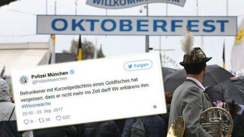 #Wiesnwache: So lustig twittert die Polizei vom Oktoberfest