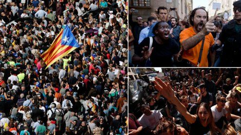 Wut auf Kataloniens Straßen - Stimmung kippt bedrohlich