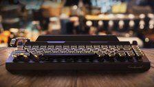 Retro-Tastatur im Schreibmaschinenlook